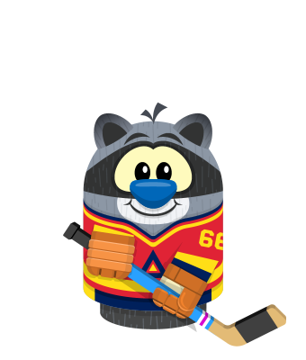 Sprite hockey jersey red raccoon.png