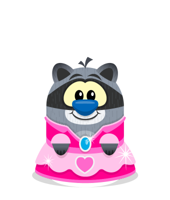 Sprite princess dress pink raccoon.png