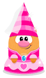Sprite princess hat pink-princess dress pink hamster.png