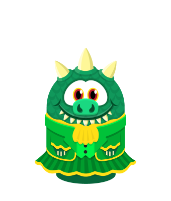 Sprite leprechaun dress lizard.png