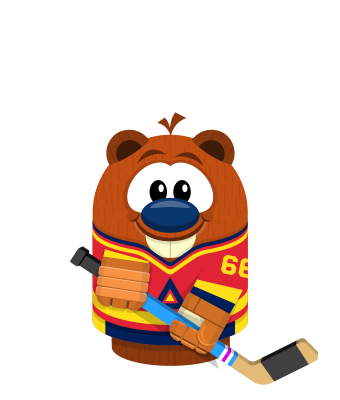 Sprite hockey jersey red beaver.png