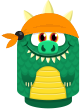 Sprite bandana orange old lizard.png