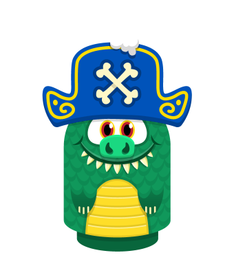 Sprite pirate hat blue lizard.png
