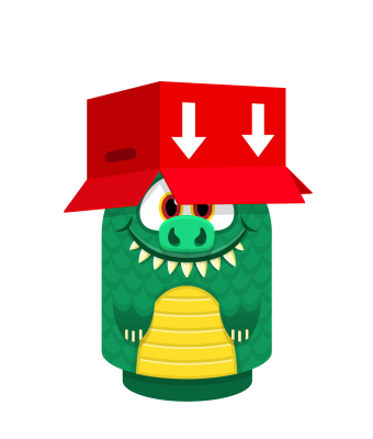Sprite box hat red lizard.png