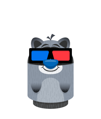 Sprite 3d black raccoon.png