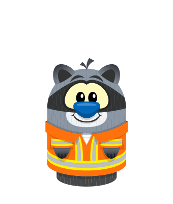 Sprite overalls orange raccoon.png