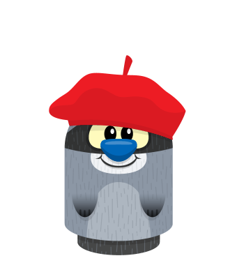 Sprite beret red raccoon.png