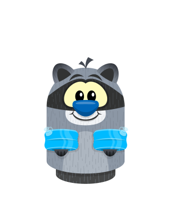 Sprite water wings blue raccoon.png