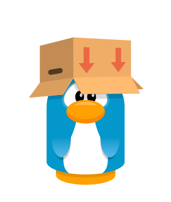 Sprite box hat brown penguin.png