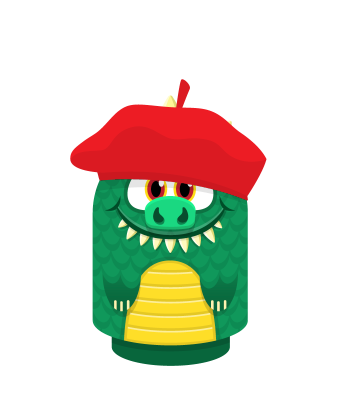 Sprite beret red lizard.png