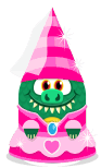 Sprite princess hat pink-princess dress pink lizard.png