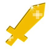 Icon cardboard sword gold.png